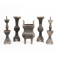 Set of five Altar Vessels in zalmac
