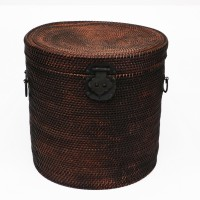 Rattan Hat Box