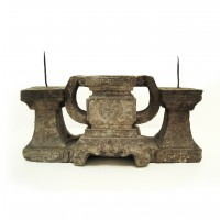 Chinese stone Altar Candlestick Holder