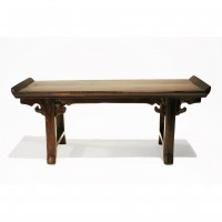 Scale model Altar Table in burgundy lacquer