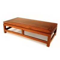 Miniature box-type Table in 'huali' wood