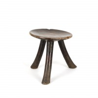 Three-legged wooden stool, Kenya