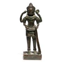 Small Khmer bronze figure of Shiva