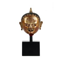 Small Tibetan gilded copper head