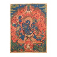 Tibetan painting depicting Mahakala