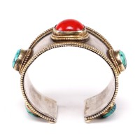 Tibetan ethnic bracelet in silver