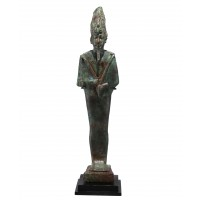 Large bronze statuette of the God Osiris