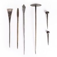 Lot of 6 hairpins, Burkina Faso-Nigéria