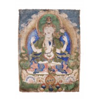 Tibetan painting depicting Avalokitesvara