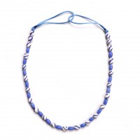 ISA B // Necklace of blue and white Venetian glass beads