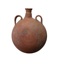 Roman terracotta flask