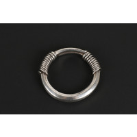 Twisted silver bracelet, spiral clasp