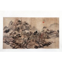 Chinese set of four seasons ink paintings