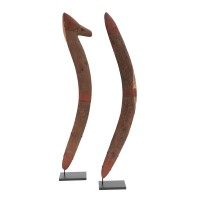 Aboriginal central desert (?) pair of boomerangs