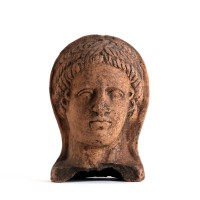 Etruscan terracotta votive head