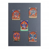 Lot of five Nepalese miniatures