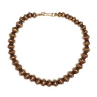 ISA B // Thai Necklace in gold plated melon beads