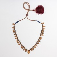 'Thali' Wedding Necklace in gold amulet beads