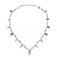 ISA B // Egyptian Necklace in faience beads