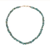 Necklace in blue glass Beads - China