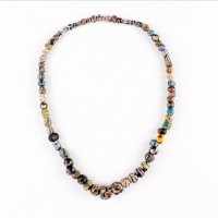 Necklace in glass 'Millefiori' Beads