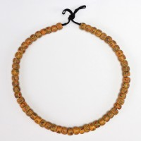 Necklace in opaque yellow Venetian glass Beads