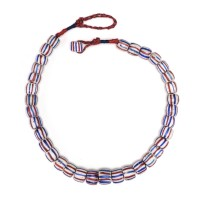 ISA B // Necklace in Venetian striped glass Beads