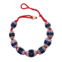 Necklace in Venetian 'Chevron' glass beads