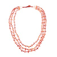 ISA B // Triple strand Bactrian Necklace in agate Beads