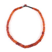 Tibetan Necklace in amber Prayer Beads