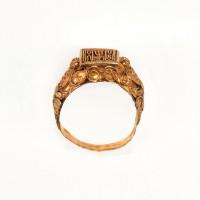 Cambodian gold Seal Ring