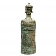 Lidded anthropomorphic bronze Lime Pot