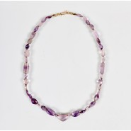 Necklace in faceted amethyst Beads