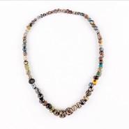 Necklace in glass 'Millefiori' Beads
