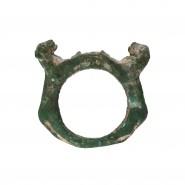 Gandharan bronze Ring depicting a pair of Lions