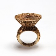 Vermeil Ring fashioned with filigree