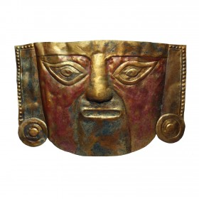 Gilded Sican funerary mask