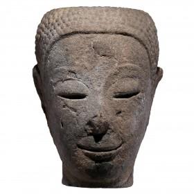 Thai sandstone Head of Buddha