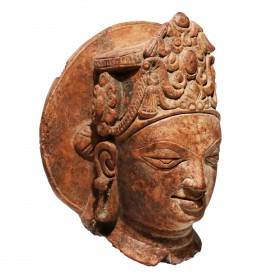 Gupta Head of Vishnu in terracotta