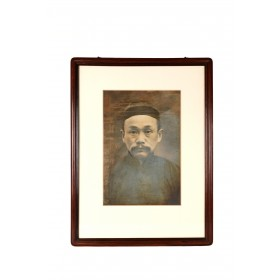 Chinese photography of an ancestral portrait of a man