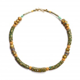 "Necklace with Murano millefiori ""Banana"" beads"