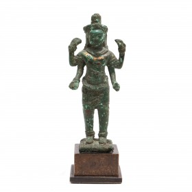 Cambodian Bronze depicting Lokeshvara