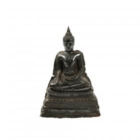 Silver seated Buddha, Thailand