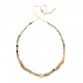 Necklace in transparent glass Beads