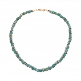 Chinese Necklace in blue glass Beads
