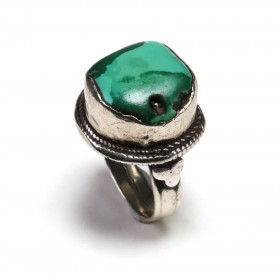 Tibetan silver and turquoise Ring