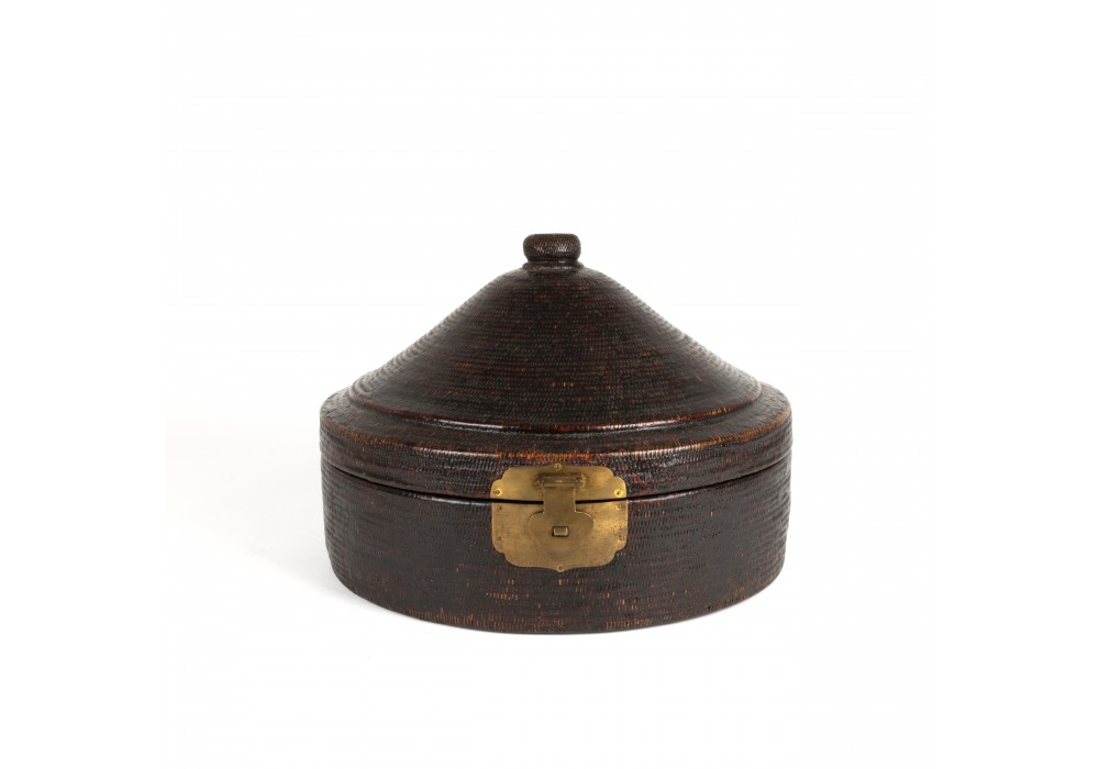 Chinese rattan hat box