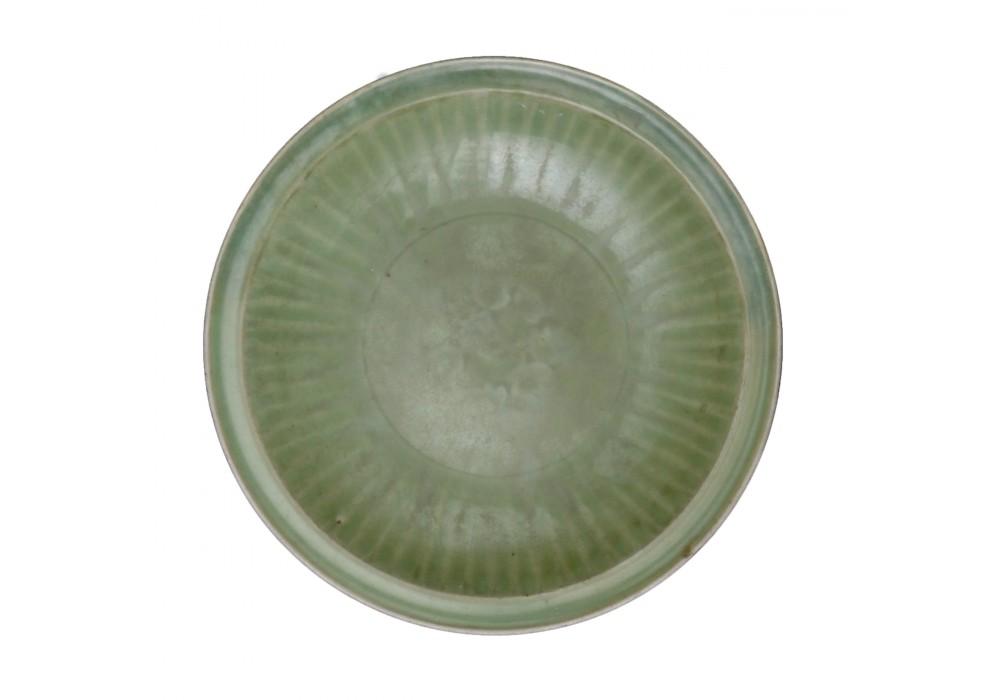 Assiette céladon de la dynastie Yuan, Chine, 14e s.