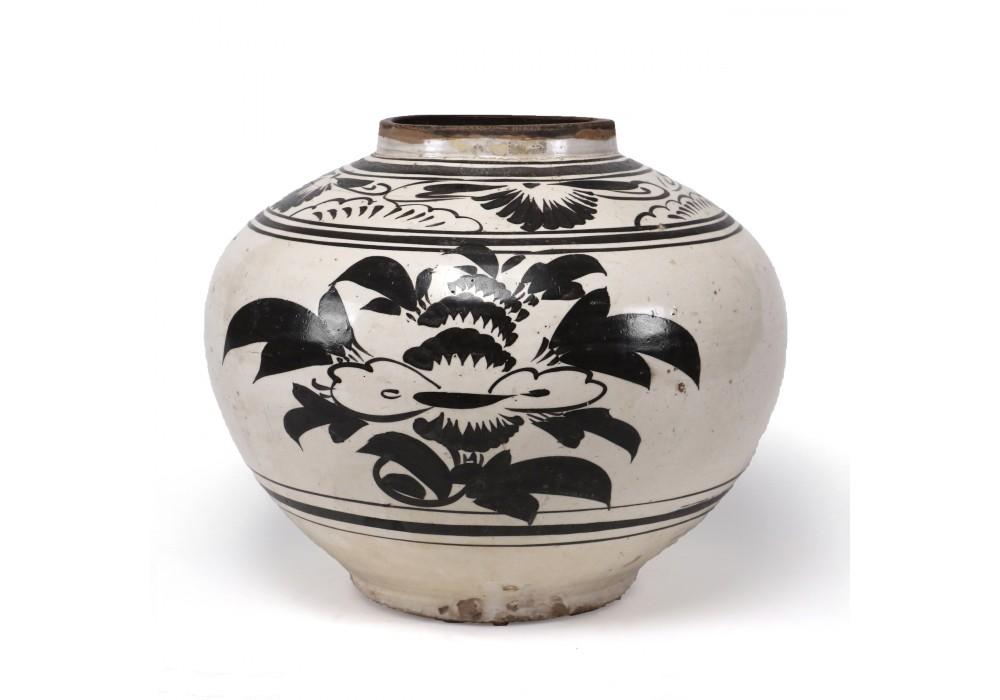 """Vase """" Cizhou"""", Chine, 19e s."""