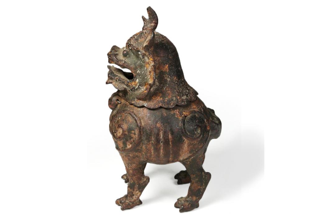 Brûleur d'encens en bronze en forme de Qilin, Chine, 18e -19e s.